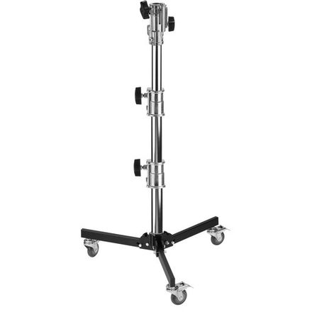 Impact Lowboy Steel Stand with Wheels and Combo Head (4')