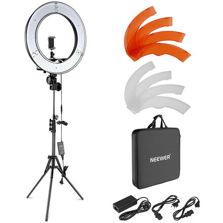 """Neewer 18"""" LED Dimmable Ring Light Package!"""