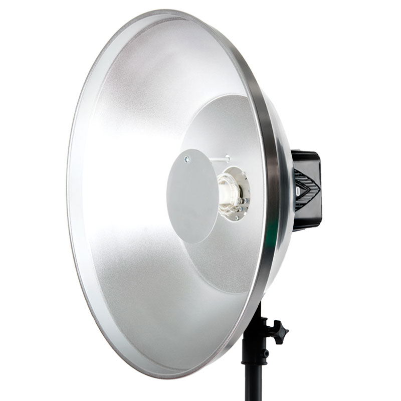 "Paul C Buff 22"" Silver High Output Beauty Dish"