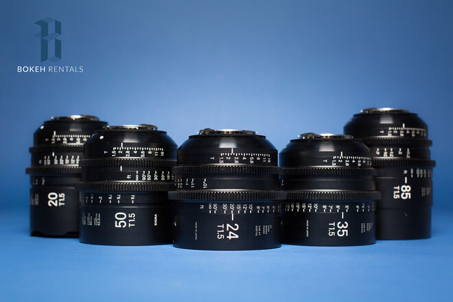 Sigma Cine FF High Speed Primes 5 Lens set (20,24,35,50,85)