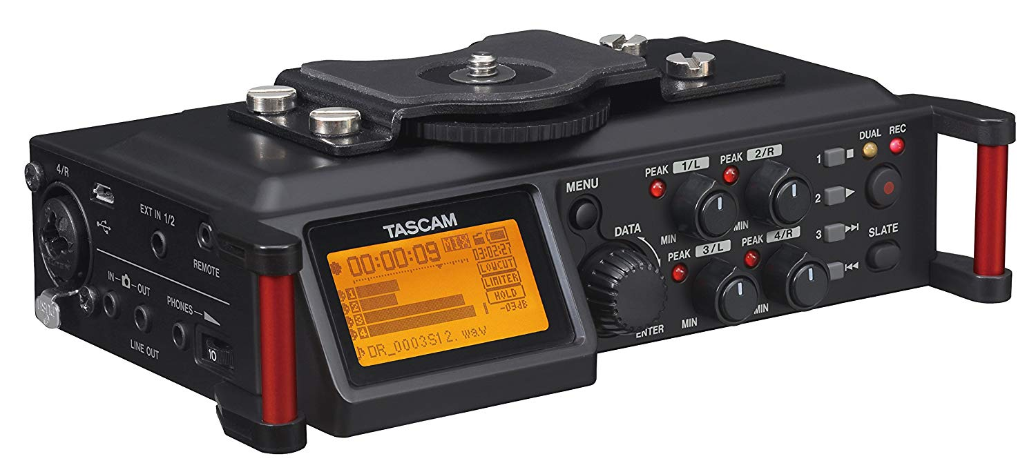 Tascam DR-70D – 4-channel audio recorder